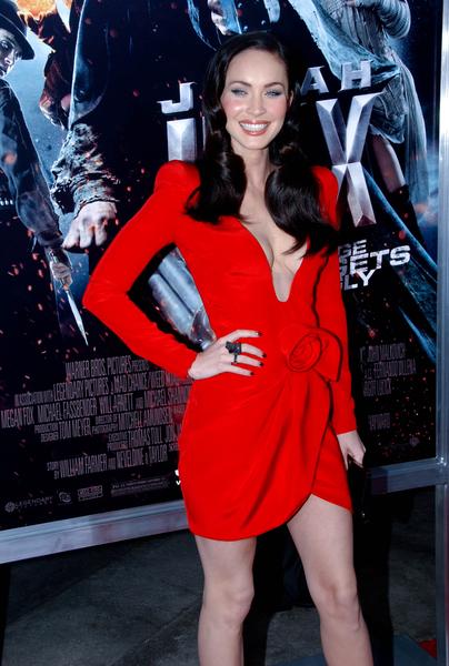Megan Fox 2010 Red Dress Megan Fox   premiere of her