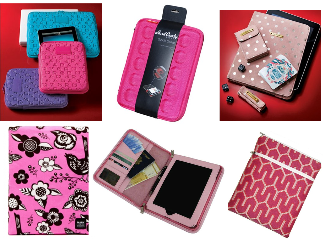 Clockwise from top left Marc by Marc Jacobs iPad Case Hard Candy Bubble