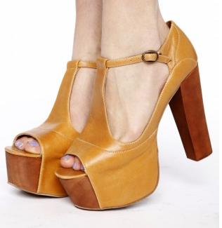 T Strap Platform Shoes