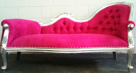 Midtown Girl Decor Hollywood Regency Pink Chaise