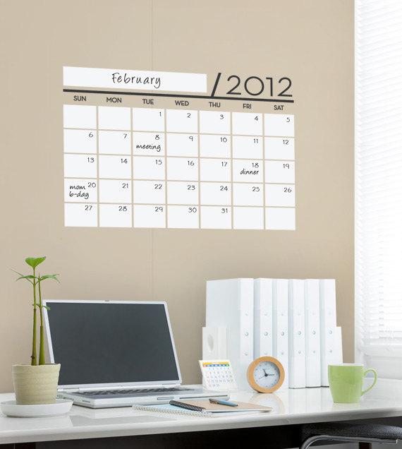 Office Calendar Wall : Office wall decals grasscloth wallpaper