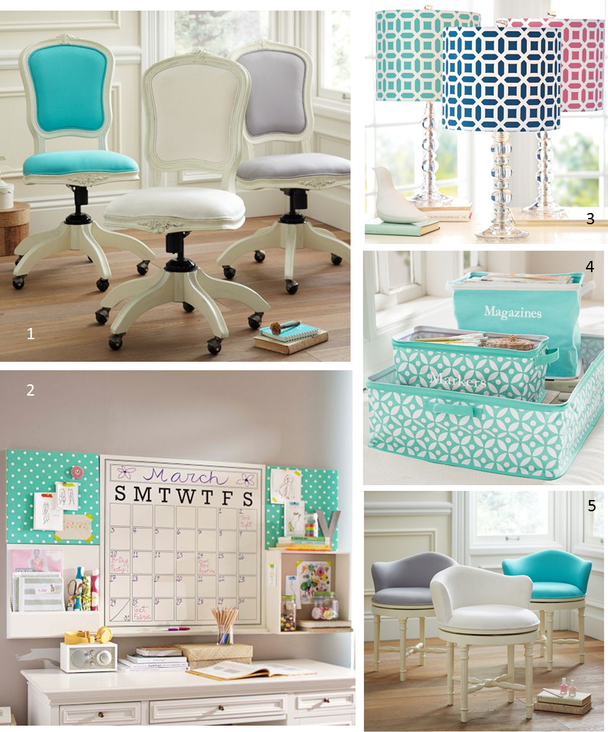 Mg decor update your home office with these preppy chic for Decorative accessories for your home