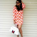 Spring Chevron Shift Dress - Midtown Girl by Amy Chandra
