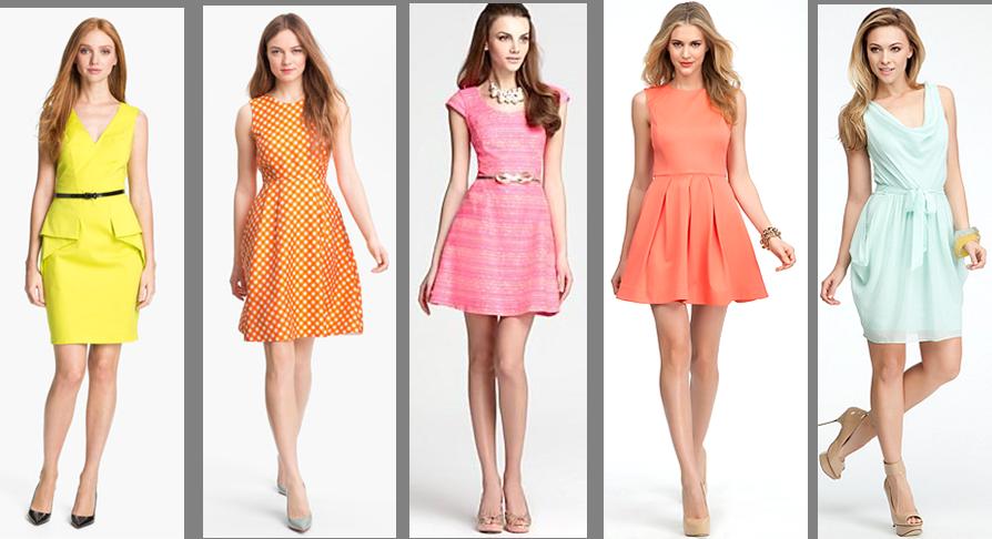 Spring Color Dresses