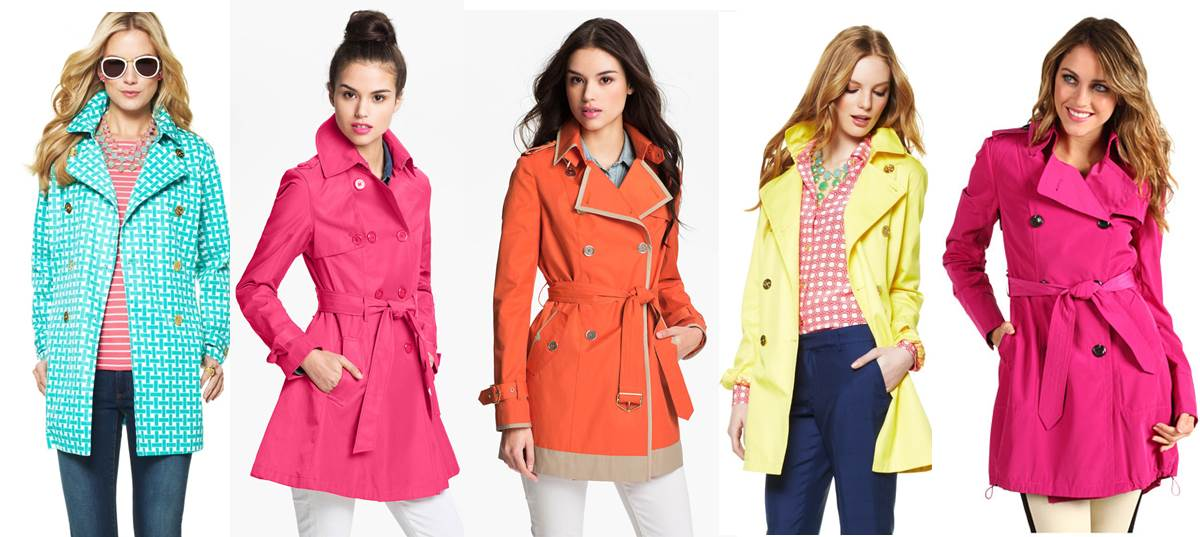 Image result for colorful trench coats