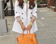 Spring White Trench - Midtown Girl by Amy Chandra