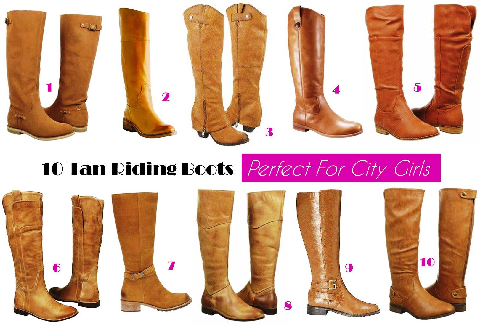 10 Tan Riding Boots Perfect For City Girls | Midtown Girl