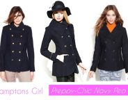 Midtown Girl by Amy Chandra - The Hamptons Girl Preppy Navy Pea Coats