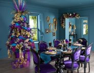 christmas-table-decorations-with-glamorous-purple-christmas