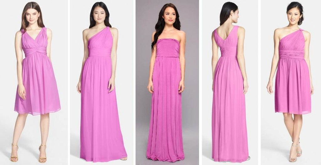 Midtown Girl Wedding by Amy Chandra - Radiant Orchid bridesmaid dresses