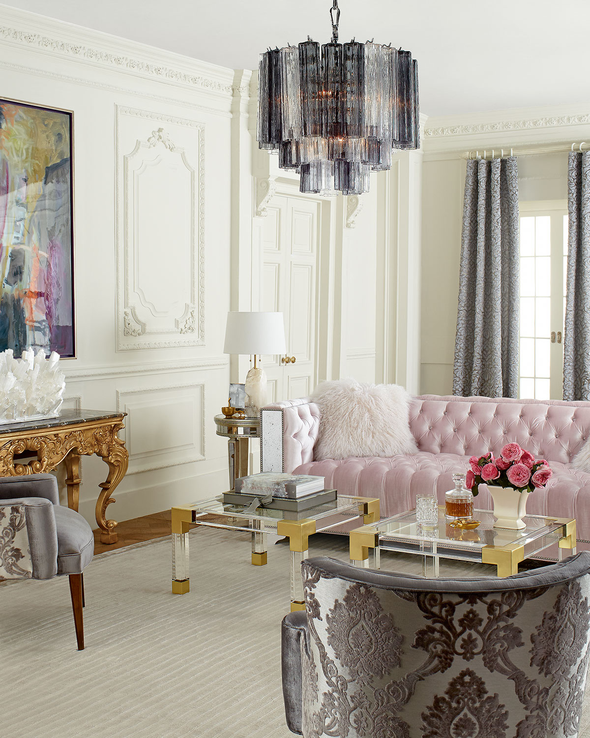 MG Decor A Manhattan Glamour Style Living Room Midtown Girl
