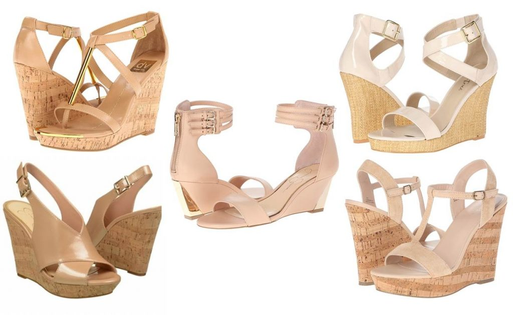Midtown Girl by Amy Chandra - Hamptons Style Nude Wedge Sandals