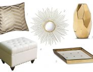 Midtown Girl by Amy Chandra - White & Gold Glam Decor Accessories