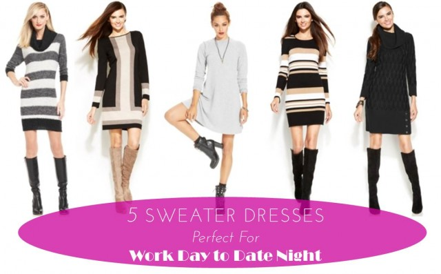 Midtown Girl by Amy Chandra - 5 Fall Day To Night Sweater Dresses