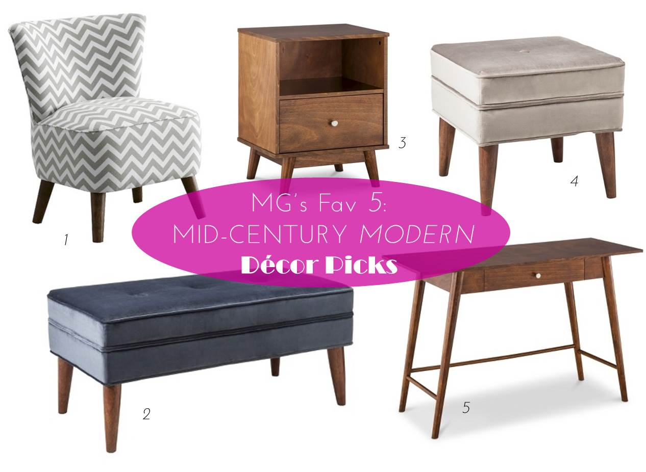 Mg Decor 5 Mid Century Modern Decor Picks From Target Midtown Girl