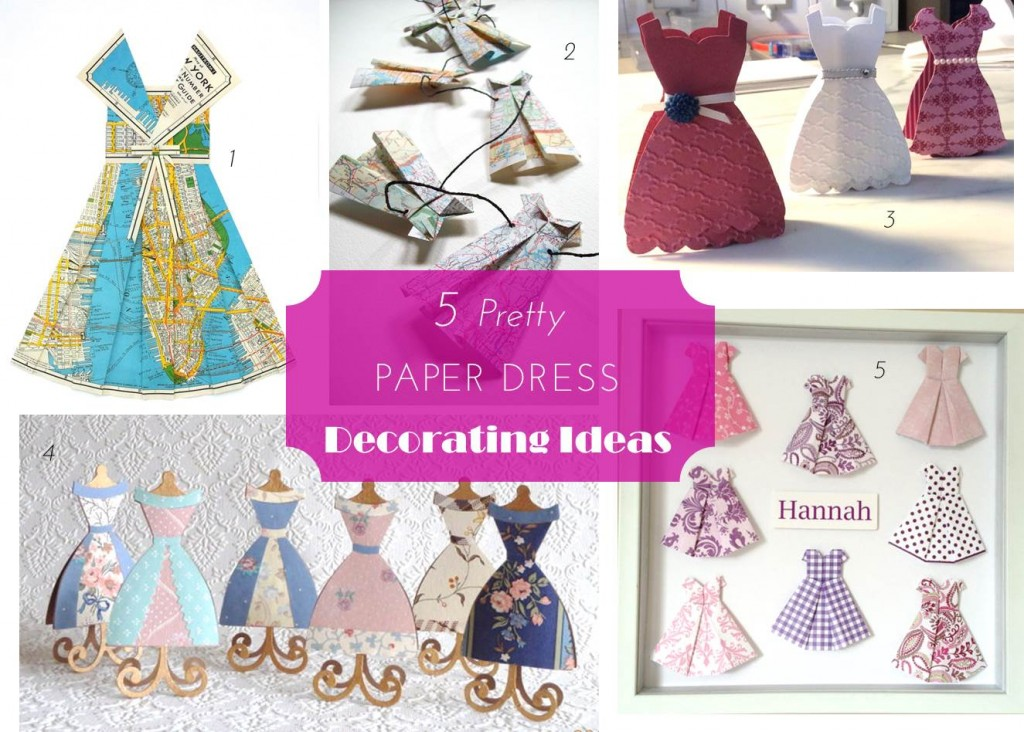 Midtown Girl by Amy Chandra - Paper Dress Decor Ideas