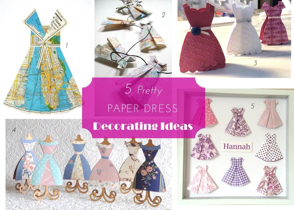 Midtown Girl by Amy Chandra - Paper Dress Decor Ideas