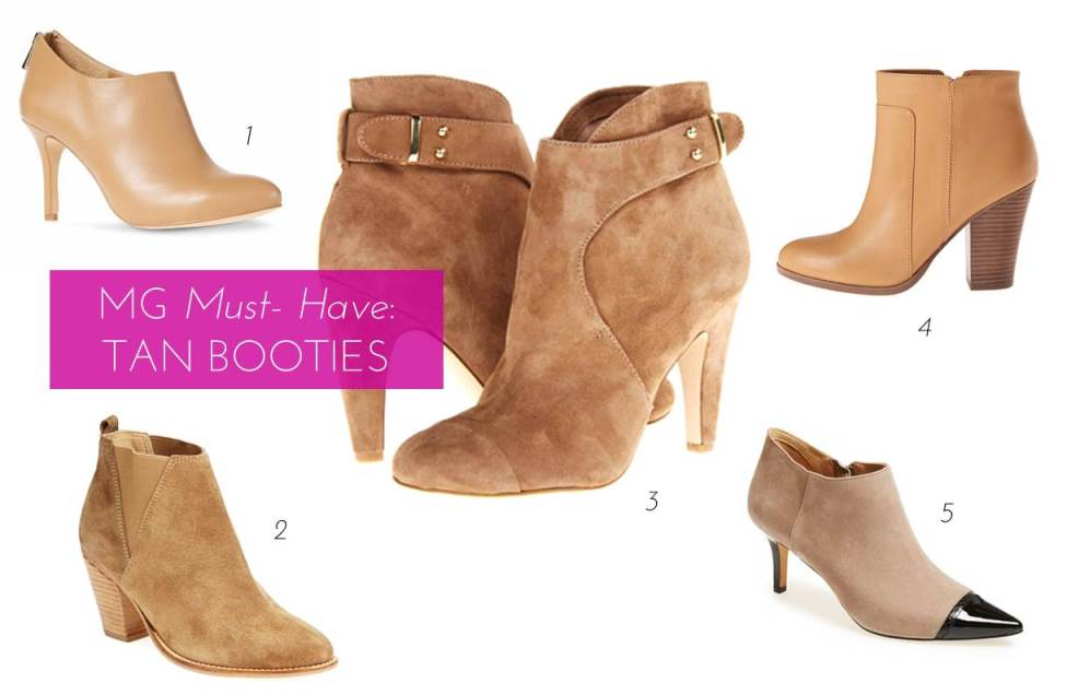 Midtown Girl by Amy Chandra - Tan Booties For Fall