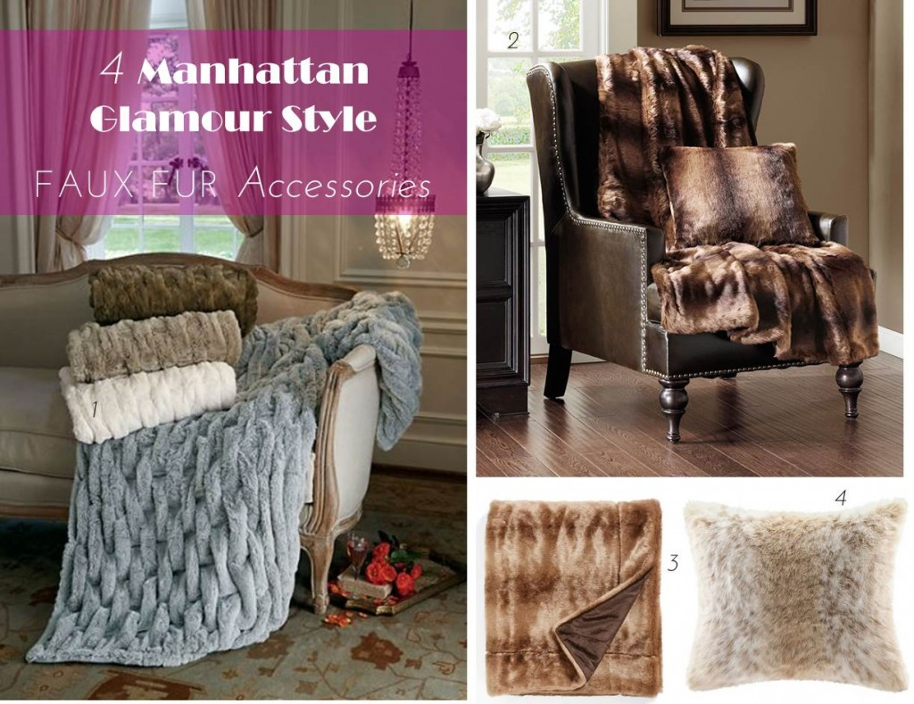 Midtown Girl by Amy Chandra - Glam Faux Fur Throws & Pillows