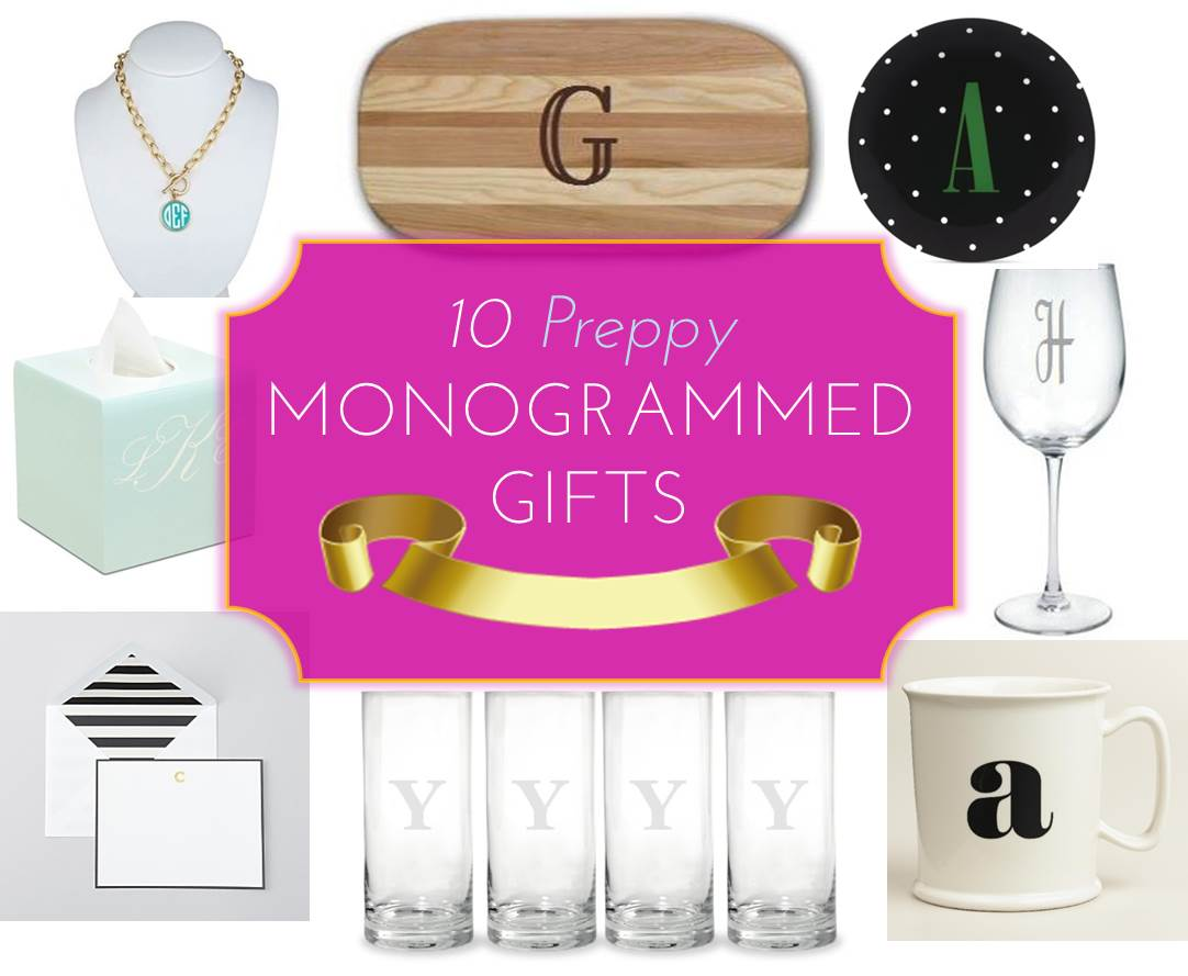 MG Gift Guide: 10 Preppy Monogrammed Gifts - Midtown Girl
