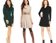 Midtown Girl by Amy Chandra - Perfect Winter Date Dress, Cowl Neck Sweater Dress