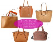 Midtown Girl by Amy Chandra - Tan Totes under $200