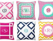 Midtown Girl by Amy Chandra - Preppy Monogrammed Pillows, Preppy Decor