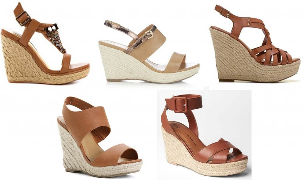 Midtown Girl by Amy Chandra - Hamptons Style Tan Espadrille Wedges, The Hamptons Girl