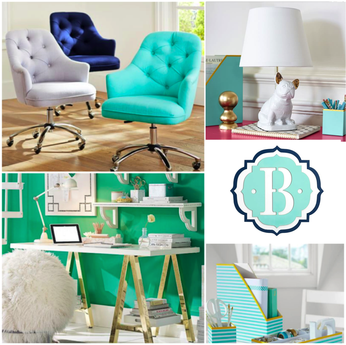 (c) 2016 Midtown Girl By Amy Chandra Browne   Preppy Home Office